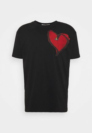 HEART CLASSIC - Print T-shirt - black