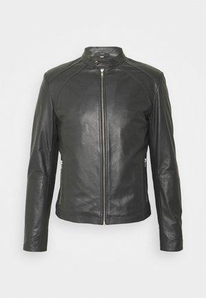 LENI - Leather jacket - grey