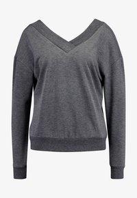 Vero Moda - VMCESINA V NECK  - Sweatshirt - dark grey - 3