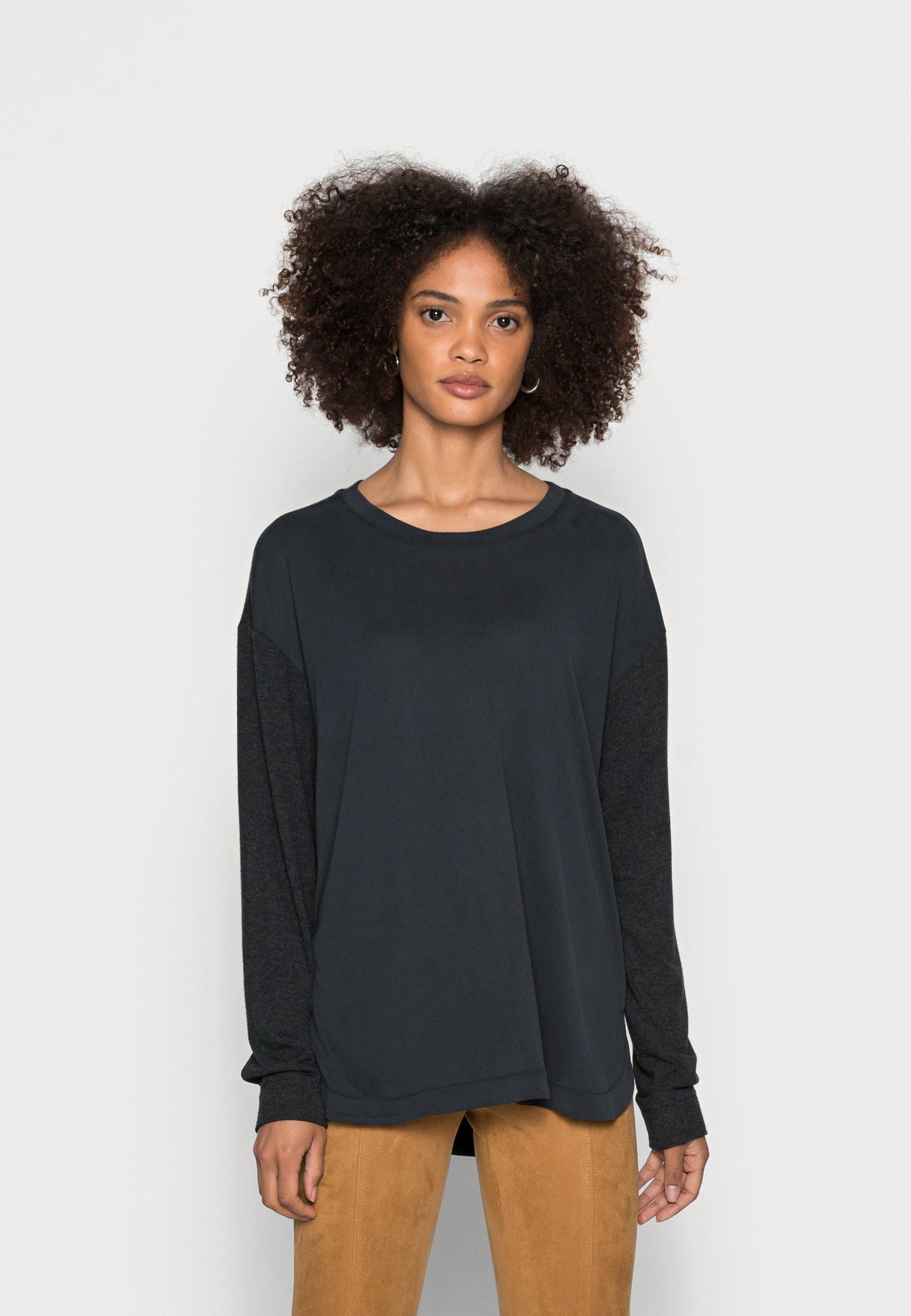 Women Long sleeved top - black