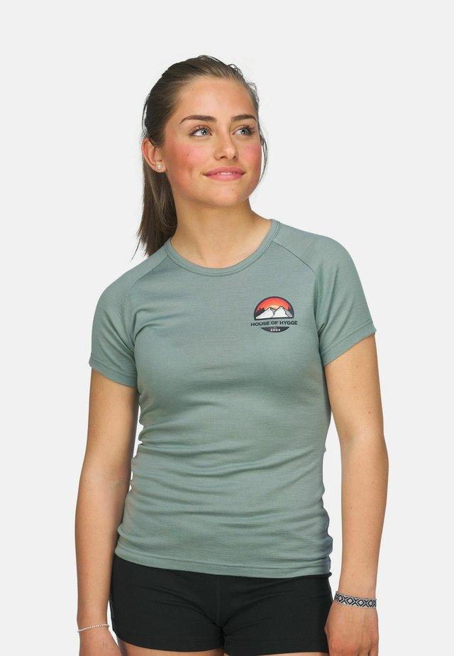 T-shirts med print - lysegrønn