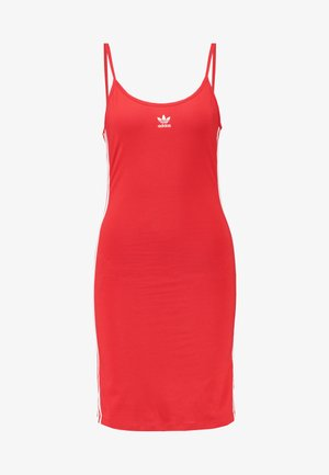 TANK DRESS - Tubino - lush red/white
