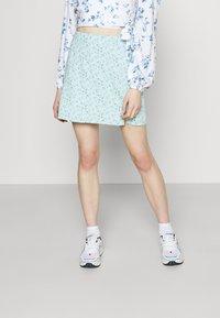 Hollister Co. - SOFT SLIT - Mini skirt - light blue - 0