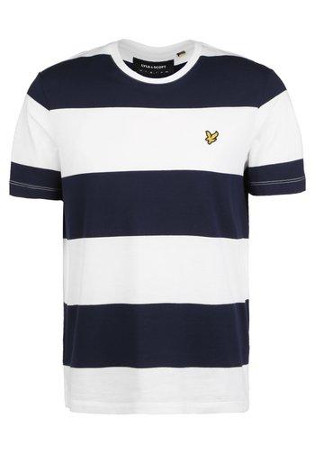 WIDE STRIPE T-SHIRT - T-shirt med print - navy