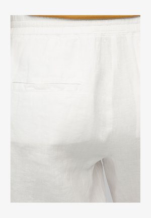 Trousers - white linen