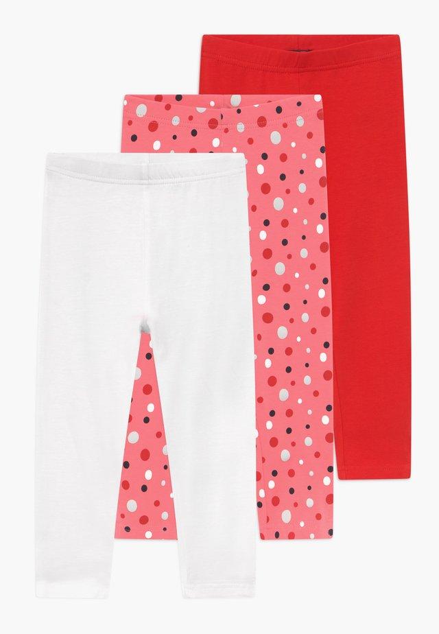 CAPRI 3 PACK - Shorts - weiss/rot