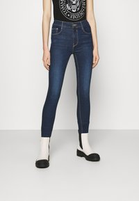 PULL&BEAR - PUSH UP - Skinny džíny - mottled dark blue - 0