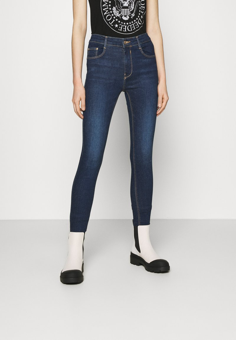 PULL&BEAR - PUSH UP - Skinny džíny - mottled dark blue