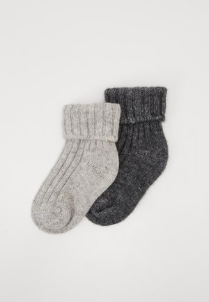 KIDSSOCKS 2 PACK - Socks - light grey/grey