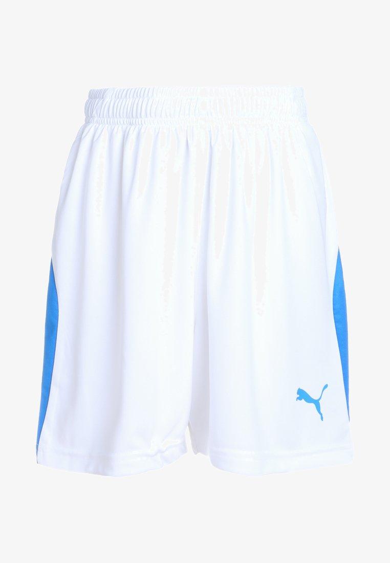 Puma - LIGA - Korte sportsbukser - white/electric blue