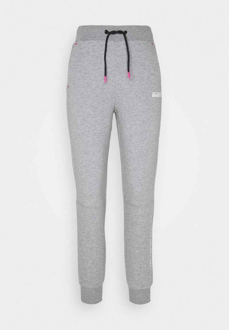 Guess - LONG PANTS - Tracksuit bottoms - light heather grey