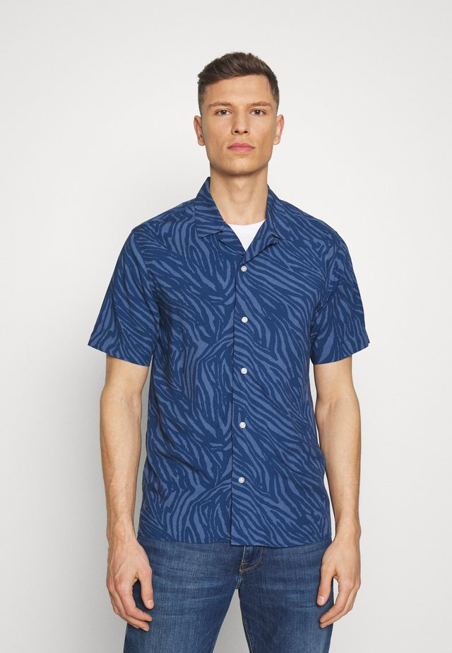 CAMP ZEBRA PRINT - Shirt - navy