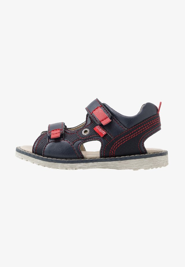 PEPPER - Walking sandals - marine/rouge
