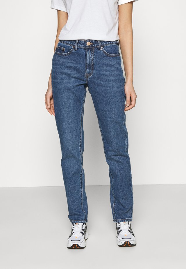 VISTRAY - Jeans a sigaretta - medium blue denim