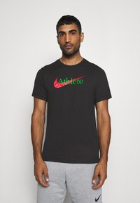 Nike Performance - TEE ATHLETE - T-shirt print - black - 0