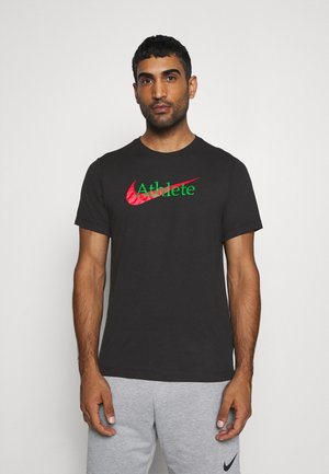 TEE ATHLETE - T-shirt med print - black