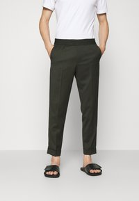 Filippa K - TERRY CROPPED TROUSER - Trousers - moss green - 0