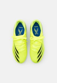 adidas Performance - X GHOSTED.3 FG UNISEX - Moulded stud football boots - solar yellow/core black/royal blue - 3