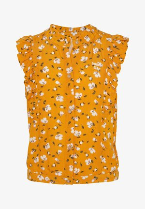 WE FASHION MEISJES BLOUSE MET BLOEMENDESSIN EN VOLANT - Camicia - ochre yellow