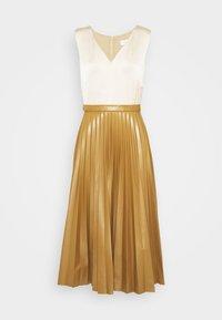 Closet - PLEATED SKIRT DRESS - Day dress - beige - 5