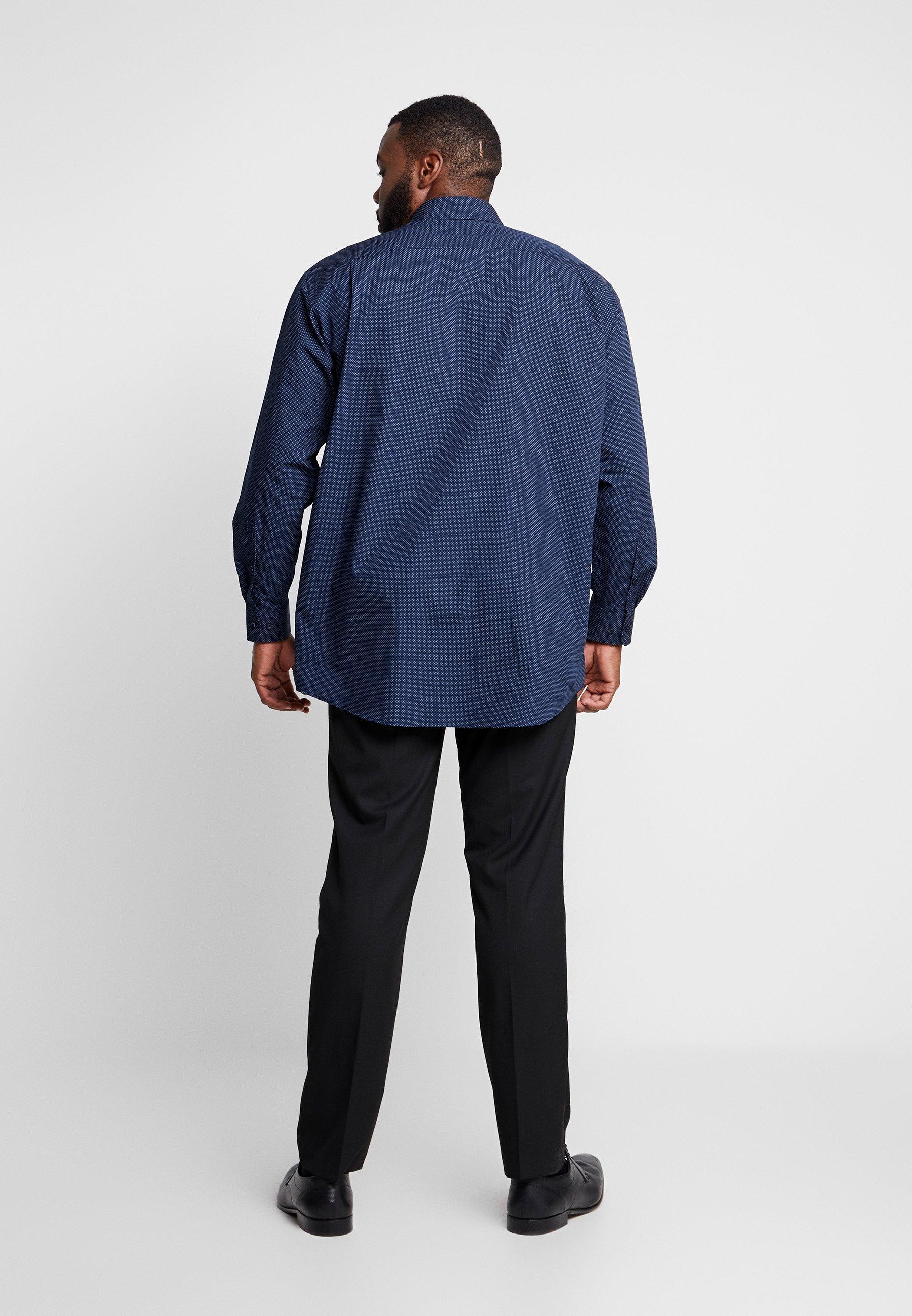 Seidensticker COMFORT FIT SPREAD PATCH - Chemise classique - dark blue