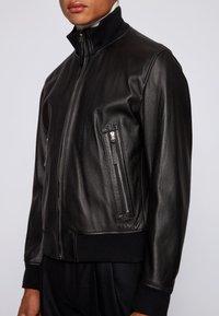 BOSS - NEOVEL - Leather jacket - black - 4