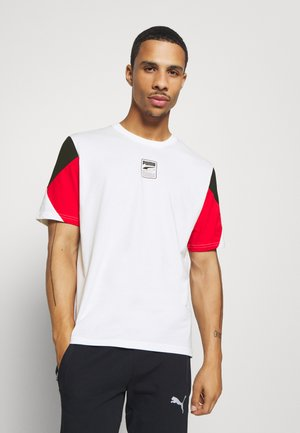 REBEL ADVANCED TEE - Print T-shirt - white