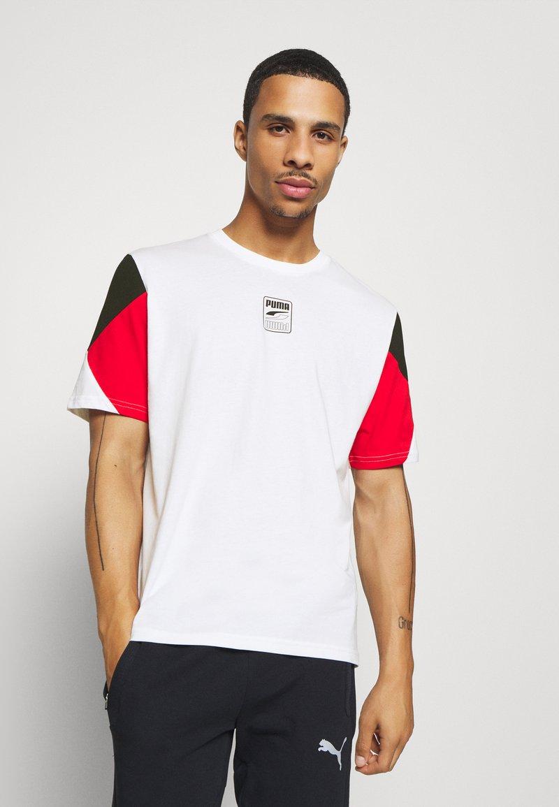 Puma - REBEL ADVANCED TEE - T-Shirt print - white