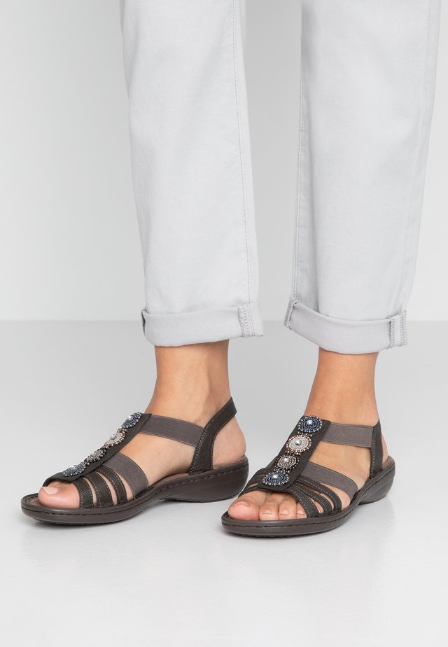 Sandály - basalt