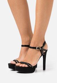 Even&Odd Wide Fit - Sandaler med høye hæler - black - 0