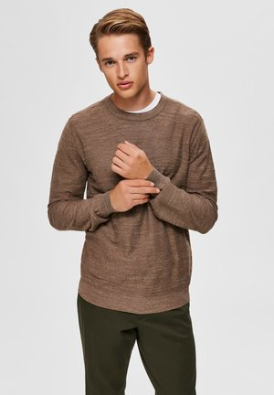 SLHBUDDY CREW NECK - Jumper - teak