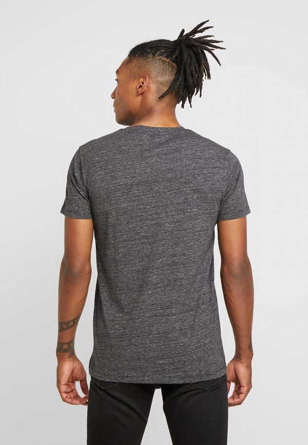Lee ULTIMATE POCKET TEE - T-shirt z nadrukiem - dark grey mele/ciemnoszary melanż Odzież Męska IDAG