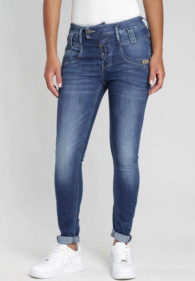 Slim fit jeans - no square mid wash