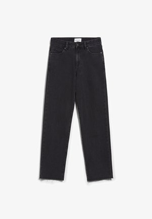 Straight leg jeans - black-grey