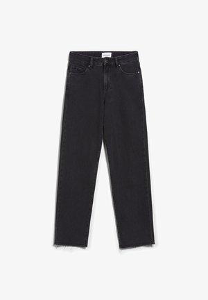 FJELLAA CROPPED - Straight leg jeans - black-grey