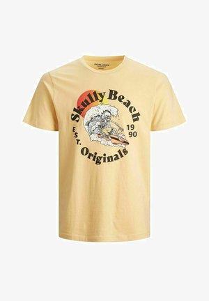 JORSUMMERSKULL TEE CREW NECK - T-shirt imprimé - sahara sun