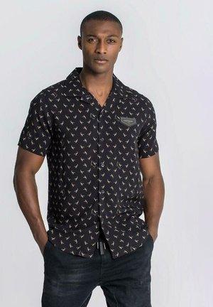 SHIRTS | MEN BLACK ZODIAC HAWAIIAN SHIRT - Shirt - black