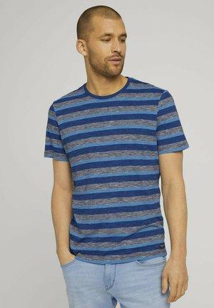 GESTREIFTES - T-shirt med print - blue multi fine stripe