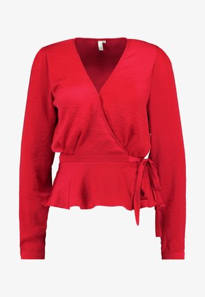 LOVELY WRAP BLOUSE - Blusa - red