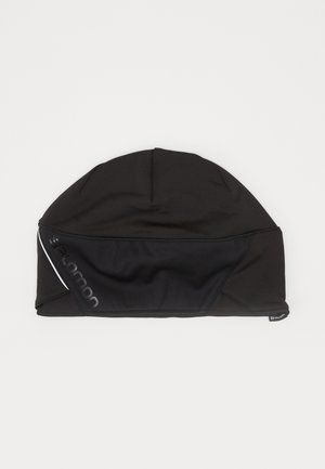 BEANIE - Huer - black/black/shiny black
