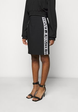 SKIRT LOGO TAPE - Pencil skirt - black