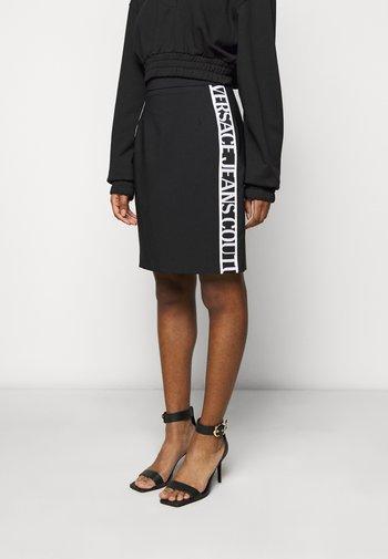 SKIRT LOGO TAPE - Pencil skirt - black