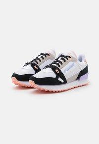 Puma - MILE RIDER POWER PLAY - Trainers - white/black/apricot blush - 2