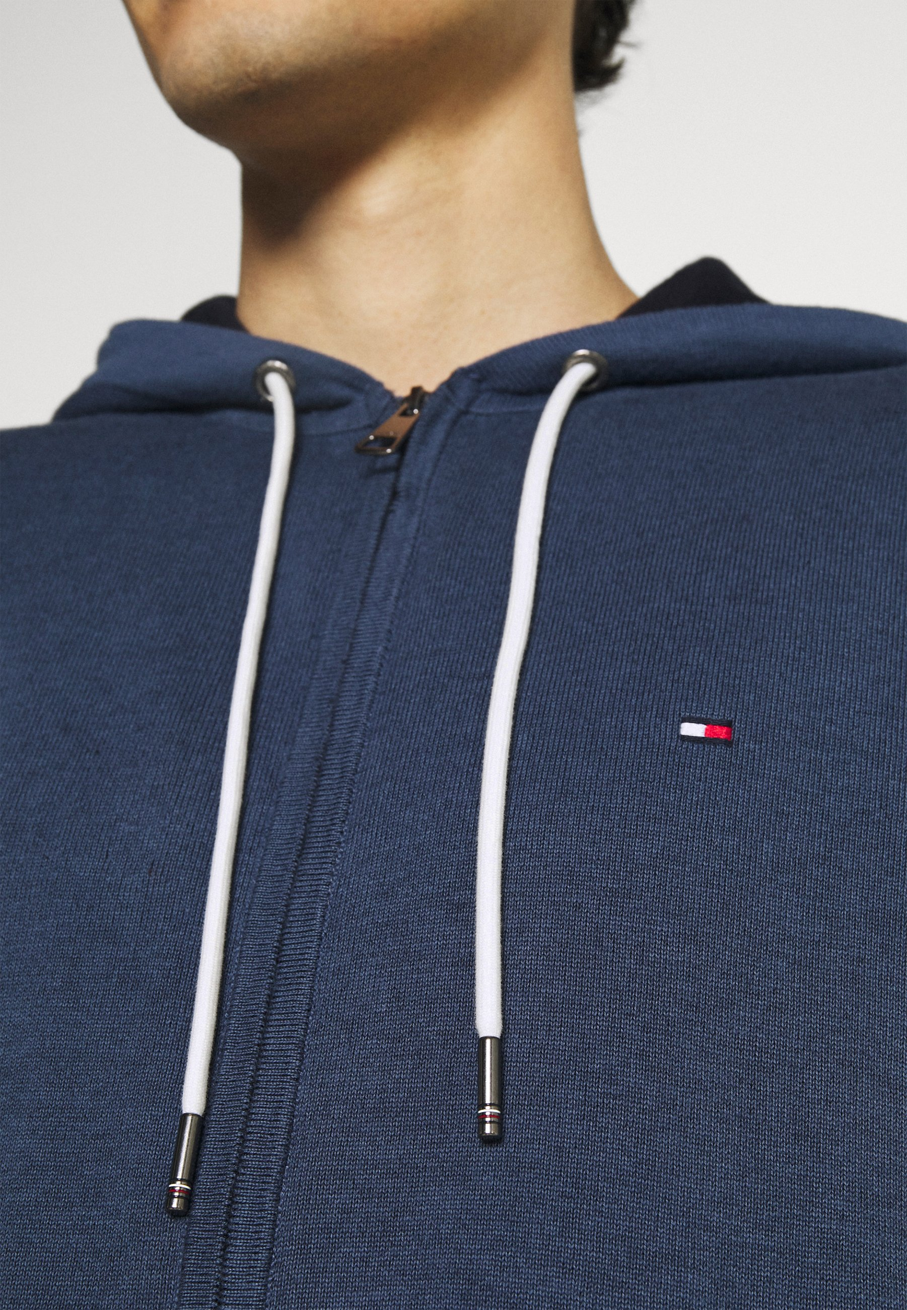 Homme TIPPED DOUBLE FACE ZIP HOODIE - Gilet