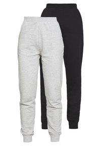 Even&Odd - 2 PACK - Pantalones deportivos - black/light grey - 0