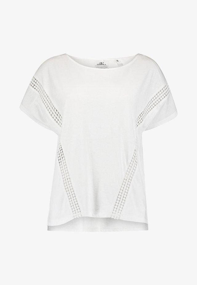 T-shirt imprimé - powder white