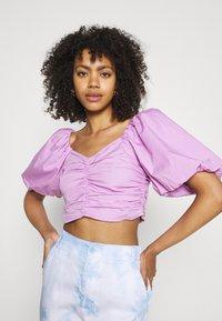 Gina Tricot - LEAH - Print T-shirt - light purple - 3