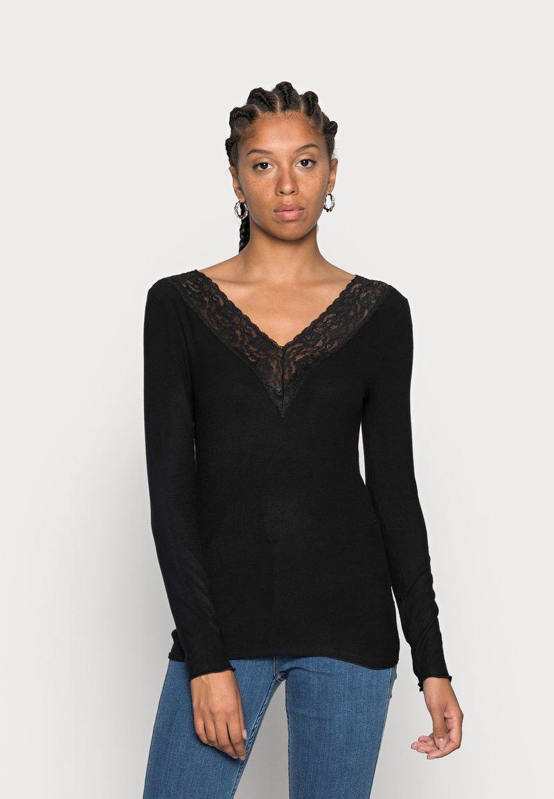 Pieces - PCSIRI - Long sleeved top - black