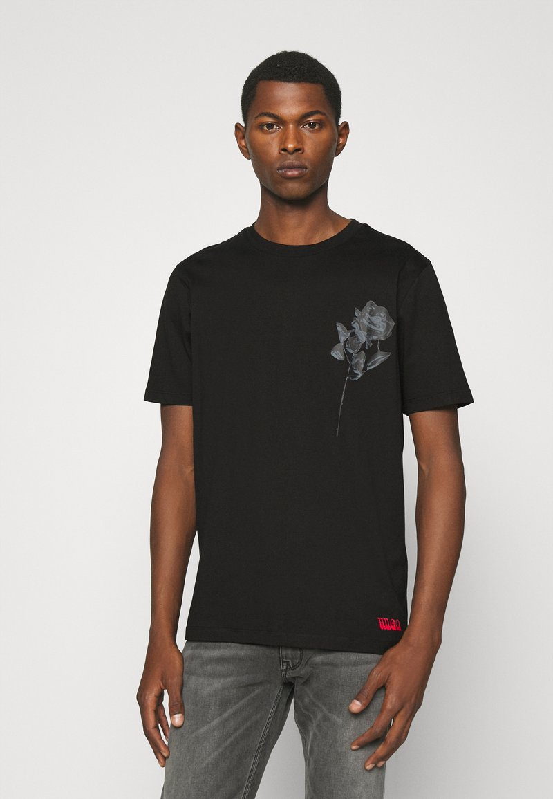 HUGO - DRINCE - Print T-shirt - black