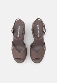 Calvin Klein Jeans - WEDGE ANKLE STRAP  - Platform sandals - dusty brown - 5